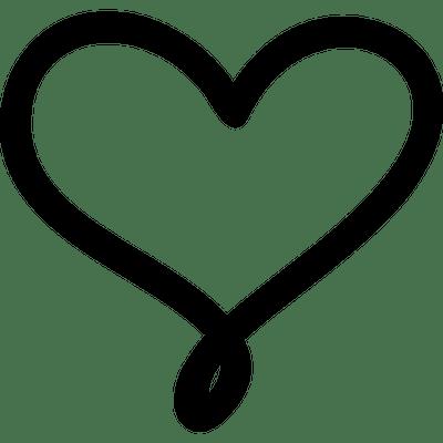 Download Heart Outline Love Black transparent PNG - StickPNG