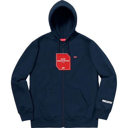 WINDSTOPPER® Zip Up Hooded Sweatshirt (Navy)