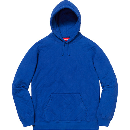 Quilted Hooded Sweatshirt (Royal)