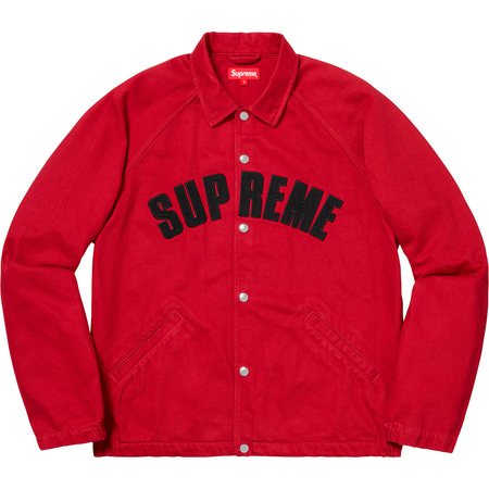 Snap Front Twill Jacket (Red)