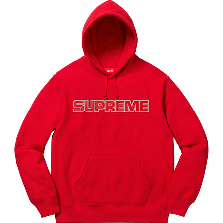Perforated Leather Hooded Sweatshirt (Red)