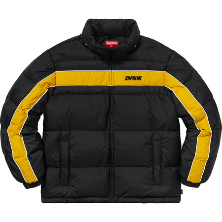 Stripe Panel Down Jacket (Black)