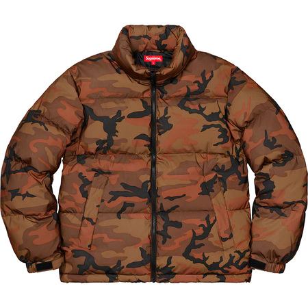 Reflective Camo Down Jacket (Orange Camo)