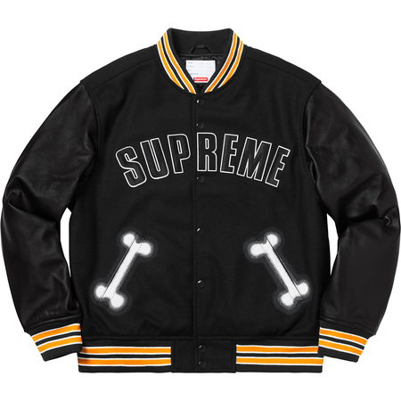Bone Varsity Jacket (Black)