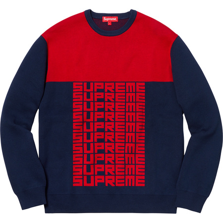 Logo Repeat Sweater (Navy)