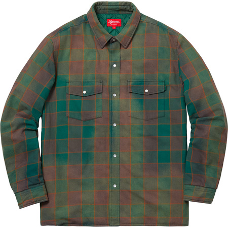 Quilted Faded Plaid Shirt (Dusty Green)