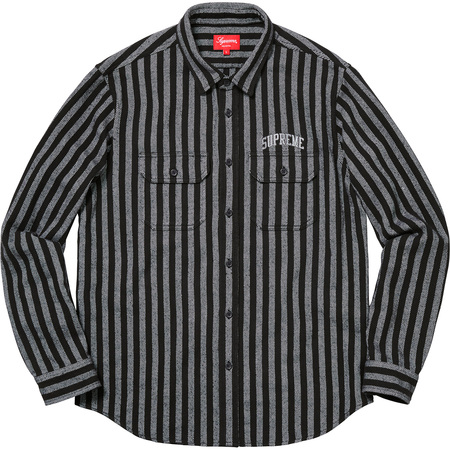 Stripe Heavyweight Flannel Shirt (Black)