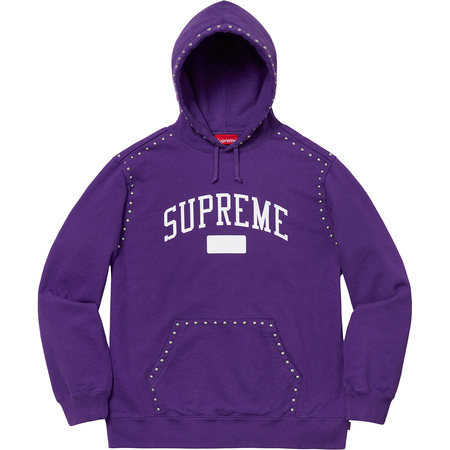 Studded Hooded Sweatshirt (Purple)