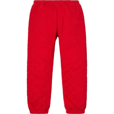 Quilted Sweatpant (Red)