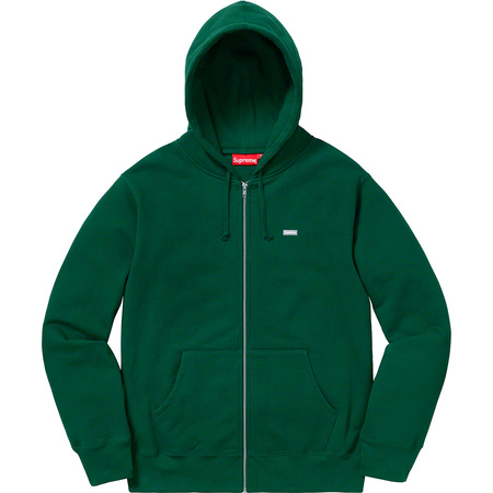 Reflective Small Box Zip Up Sweatshirt (Dark Green)