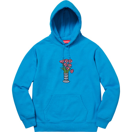 Flowers Hooded Sweatshirt (Bright Royal)