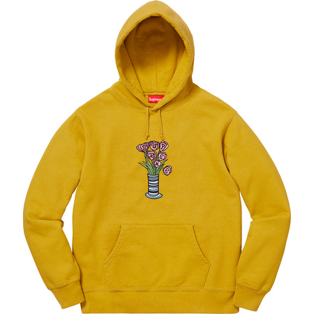 Flowers Hooded Sweatshirt (Mustard)