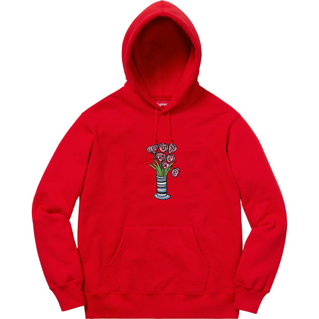 Flowers Hooded Sweatshirt (Red)
