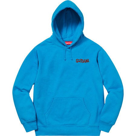 Portrait Hooded Sweatshirt (Bright Royal)