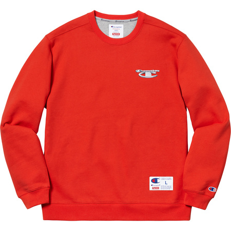 Supreme®/Champion® 3D Metallic Crewneck (Brick Red)