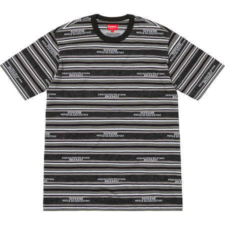 HQ Stripe S/S Top (Black)