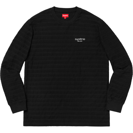 Rope Stripe L/S Top (Black)