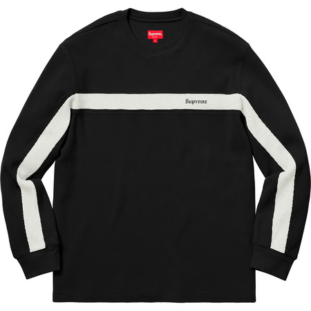 Panel Stripe Waffle Thermal (Black)