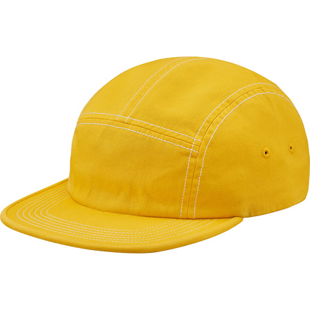 Fitted Rear Patch Camp Cap (Yellow)