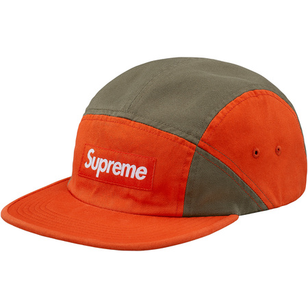 Contrast Panel Camp Cap (Orange)