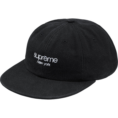 Napped Canvas Classic Logo 6-Panel (Black)