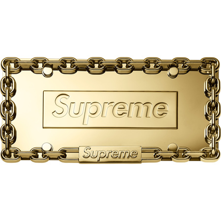 Chain License Plate Frame (Gold)