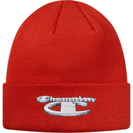 Supreme®/Champion® 3D Metallic Beanie (Brick Red)