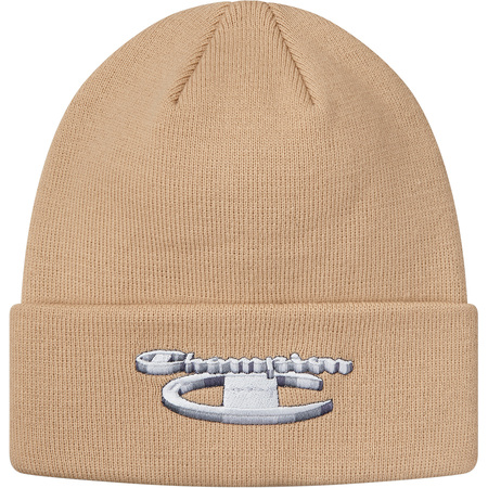 Supreme®/Champion® 3D Metallic Beanie (Tan)