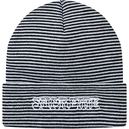 Small Stripe Beanie (White)