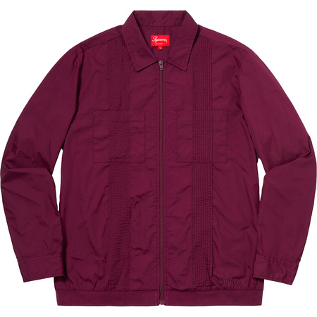 Pin Tuck Zip Up Shirt (Plum)