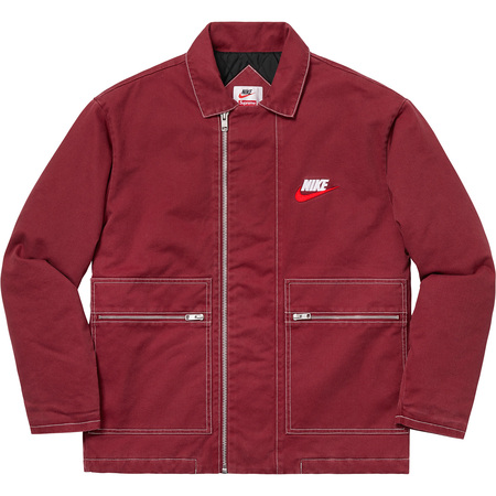 Supreme®/Nike® Double Zip Quilted Work Jacket (Burgundy)