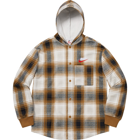 Supreme®/Nike® Plaid Hooded Sweatshirt (Mustard)