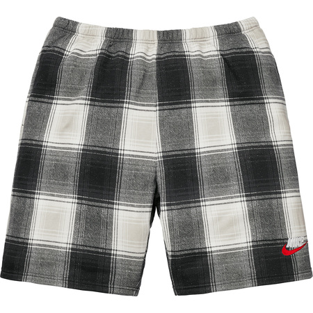 Supreme®/Nike® Plaid Sweatshort (Black)