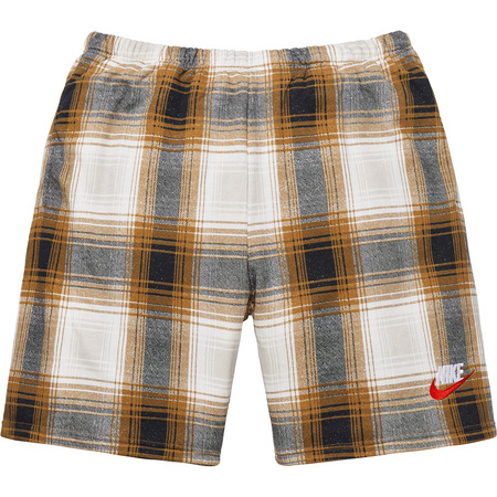 Supreme®/Nike® Plaid Sweatshort (Mustard)