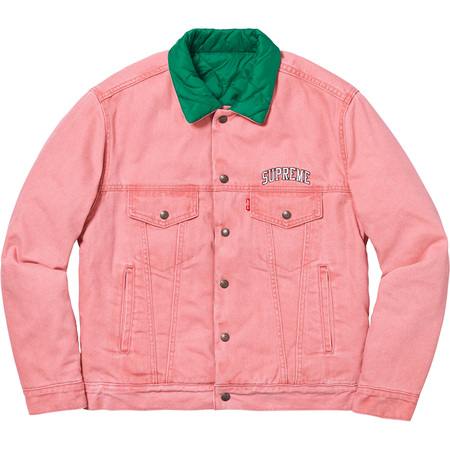 Supreme®/Levi's® Quilted Reversible Trucker Jacket (Pink)