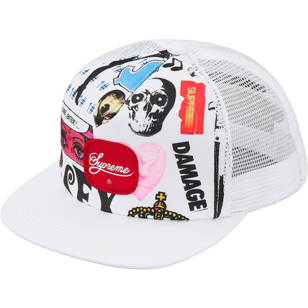 Blood Lust Mesh Back 5-Panel (White)