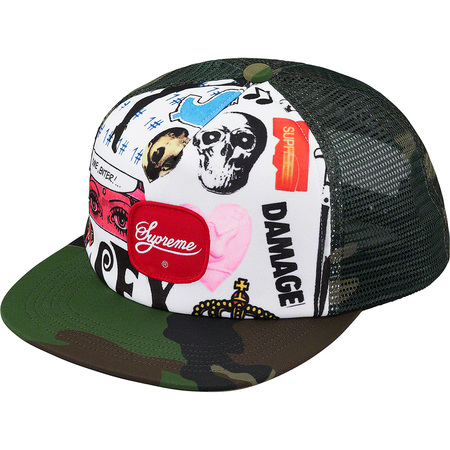 Blood Lust Mesh Back 5-Panel (Woodland Camo)