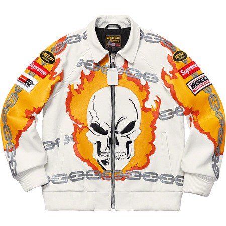 Supreme®/Vanson Leathers® Ghost Rider© Jacket (White)