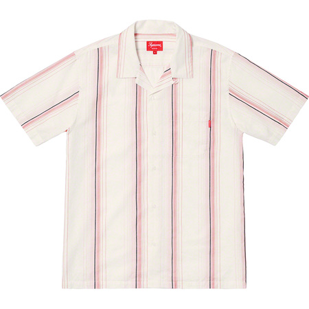 Vertical Stripe S/S Shirt (Off-White)