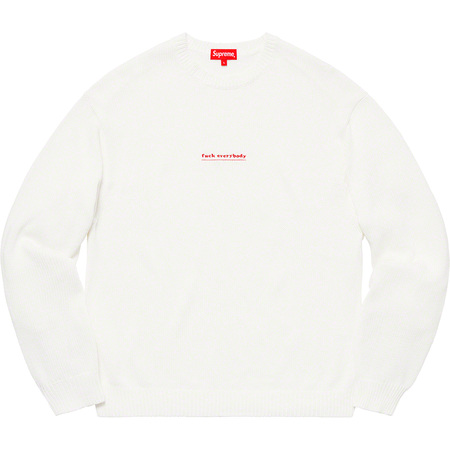 Fuck Everybody Sweater (White)