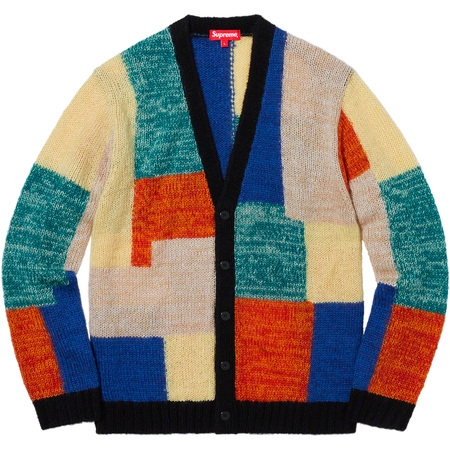 Patchwork Mohair Cardigan (Multicolor)