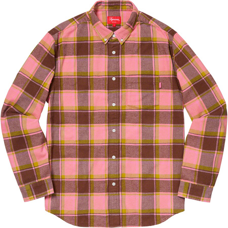 Plaid Flannel Shirt (Dusty Pink)