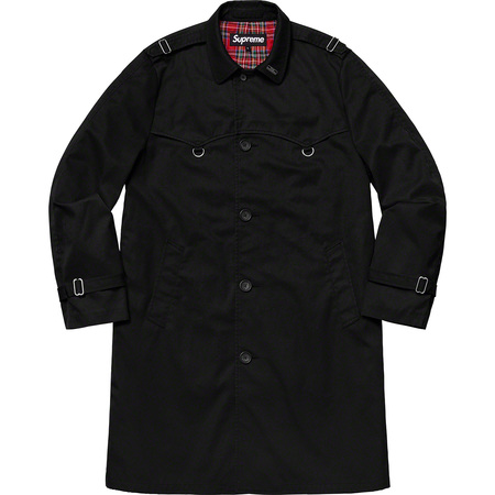 D-Ring Trench Coat (Black)