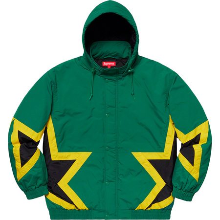 Stars Puffy Jacket (Dark Green)