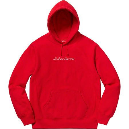 Le Luxe Hooded Sweatshirt (Red)