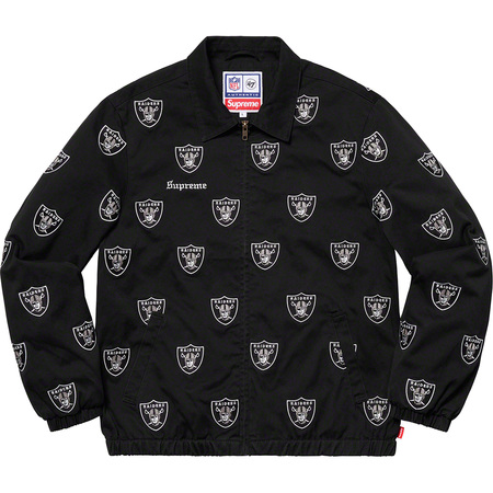 Supreme®/NFL/Raiders/'47 Embroidered Harrington Jacket (Black)