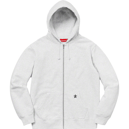Star Zip Up Sweatshirt (Ash Grey)
