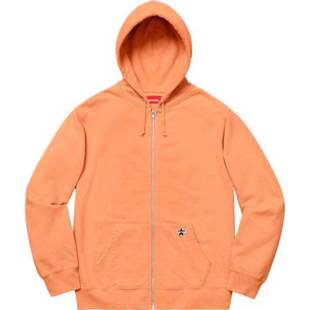 Star Zip Up Sweatshirt (Pale Orange)