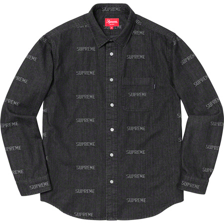Logo Denim Shirt (Black)
