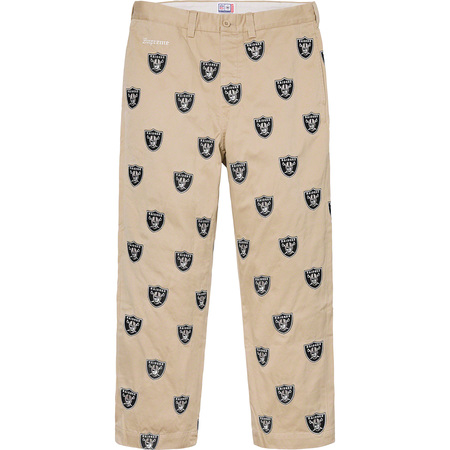 Supreme®/NFL/Raiders/'47 Embroidered Chino Pant (Khaki)